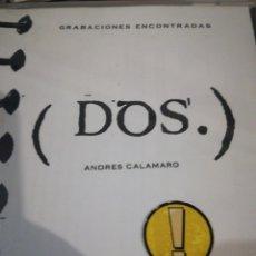 CDs de Música: ANDRÉS CALAMARO GRABACIONES ENCONTRADAS DOS. Lote 111067540