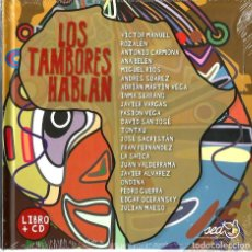 CDs de Música: LIBRO + CD LOS TAMBORES HABLAN ( VICTOR MANUEL, ANA BELEN, MIGUEL RIOS, PASION VEGA, JAVIER ALVAREZ. Lote 111181199