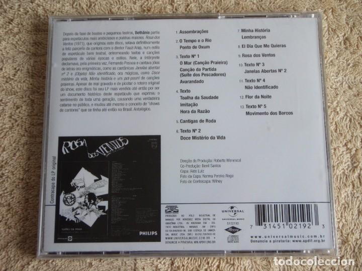 CDs de Música: MARIA BETHANIA ( ROSA DOS VENTOS ) CD PRECINTADO 2011-BRASIL - Foto 2 - 111411099