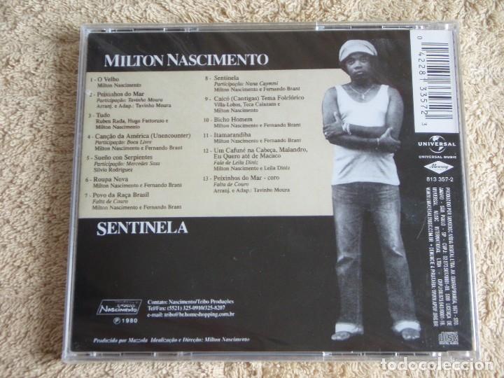 CDs de Música: MILTON NASCIMENTO ( SENTINELA ) CD PRECINTADO 1989-BRASIL - Foto 2 - 111412919