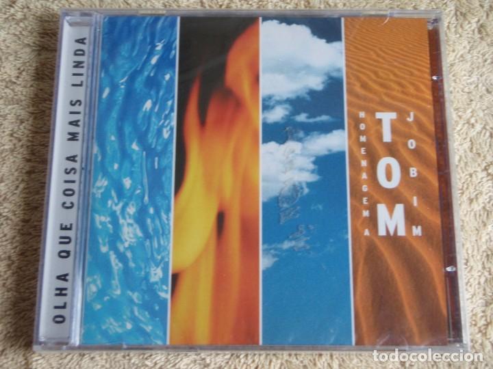 HOMENAGEM A TOM JOBIM ( OLHA QUE COISA MAIS LINDA ) VARIOS CANTANTES CD PRECINTADO 2001-BRASIL (Música - CD's Latina)
