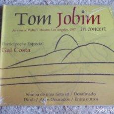 CDs de Música: TOM JOBIM (TOM JOBIM IN CONCERT & GAL COSTA) AO VIVO NO WILTERN THEATRE, LOS ANGELES,CD PRECINTADO. Lote 111424563
