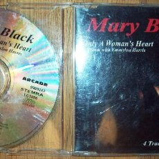 CDs de Música: MARY BLACK. ONLY A WOMAN'S HEART : DUET WITH EMMYLOU HARRIS (CD SINGLE). ARCADE, THE GRAPEVINE, 1995. Lote 111475667