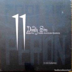 CDs de Música: CARLOS PERON (YELLOW), 11 DEADLY SINS. 11 CD'S + LIBRO + JUGUETE ERÓTICO. NUEVO Y AÚN PRECINTADO. Lote 111755063