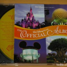 CDs de Música: WALT DISNEY WORLD: THE OFFICIAL ALBUM (1998), CD MUY DIFÍCIL. Lote 111787643
