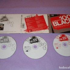 CDs de Música: LO MEJOR DE 100 % BLACK - 3 CD - MXCD 1667 (CD) CTV - BLANCO Y NEGRO - 2PAC - TLC - DES'REE .... Lote 111981171
