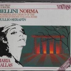 CDs de Música: == CD60 - BELLINI - NORMA - MARIA CALLAS - ORQUESTA Y COROS DE LA RADIOTELEVISION ITALIANA. Lote 112067807