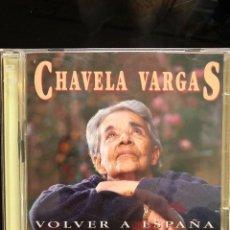 CDs de Música: CHAVELA VARGAS VOLVER A ESPAÑA 30 HERMOSAS CANCIONES 2 CDS. Lote 112119919