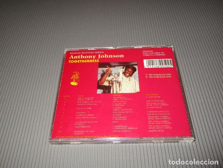 CDs de Música: ANTHONY JOHNSON ( TOGETHERNESS ) - CD - CDSGP050 - PRESTIGE - REGGAE MASTERS SERIES - Foto 3 - 112362767