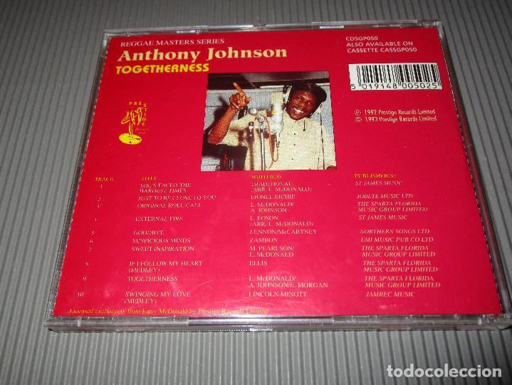 CDs de Música: ANTHONY JOHNSON ( TOGETHERNESS ) - CD - CDSGP050 - PRESTIGE - REGGAE MASTERS SERIES - Foto 4 - 112362767