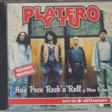 CDs de Música: PLATERO Y TÚ CD HAY POCO ROCK'N'ROLL Y OTROS ÉXITOS 2001 DRO. Lote 112378019