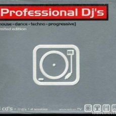 CDs de Música: PROFESIONAL DJ'S (HOUSE-DANCE-TECHNO-PROGRESSIVE) 4 CD'S TEMPO MUSISC. Lote 112609395