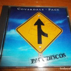 CDs de Música: COVERDALE PAGE COVERDALE PAGE DAVID COVERDALE & JIMMY PAGE CD ALBUM 1993 UK LED ZEPPELIN 11 TEMAS. Lote 112614799