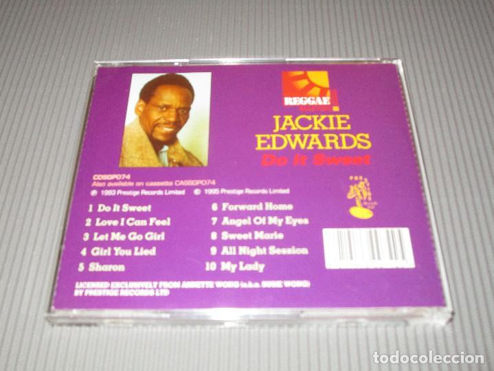 CDs de Música: JACKIE EDWARDS ( DO IT SWEET ) - CD - CDSGP074 - PRESTIGE - REGGAE MASTERS SERIES - Foto 3 - 112881847