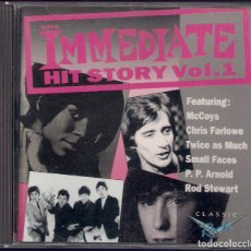 CDs de Música: THE IMMEDIATE HIT STORY VOL. 1 Y VOL. 2 - MCCOYS, CHRIS FARLOWE, SMALL FACES... - 2 CD CHARLY 1993. Lote 112938023