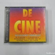 CDs de Música: SELECCION DE EXITOS DE CINE. GRABACIONES ORIGINALES. DOBLE CD. TDKV3. Lote 112959931