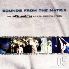 CDs de Música: SOUNDS FROM THE MATRIX 05_EBM,ELECTRO,INDUSTRIAL_CD PROMO BELGICA_2007 NUEVO!!!. Lote 113015107