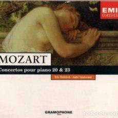 CDs de Música: MOZART - CONCERTOS POUR PIANO 20 & 23 - ERIC HEIDSIECK ANDRE VANDERNOOT - CD GRAMOPHONE 1996. Lote 113029143