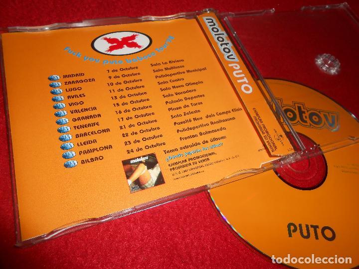 CDs de Música: MOLOTOV PUTO CD SINGLE 1998 PROMO ESPAÑA SPAIN + PROMO SPAIN TOUR - Foto 2 - 113069727