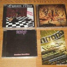 CDs de Música: OPIUM RELAX/ SETGE/ FUCK OFF LOT 3 CD+WARCRY,SPANISH HEAVY-SARATOGA-ADN-LEGION -KTULU. Lote 113340167