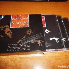 CDs de Música: HERBERT VON KARAJAN THE MAESTRO CAJA CON 3 CD´S 1996 HOLANDA CONTIENE 32 TEMAS BOX SET. Lote 113397907