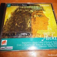 CDs de Música: AIDA GIUSEPPE VERDI MARIA CALLAS RICHARD TUCKER EL MUNDO Nº 4 HOMENAJE A LA OPERA CD 2000. Lote 113401047