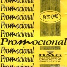CDs de Música: JOAN MANUEL SERRAT / JOAQUÍN SABINA - RARO CD SINGLE PROMOCIONAL - EDITADO EN ARGENTINA - BMG 1994. Lote 113432983