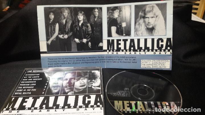 CDs de Música: METALLICA BAY THRASERS AREA THE EARLY DAYS BUEN ESATDO DIFICIL - Foto 2 - 113433091