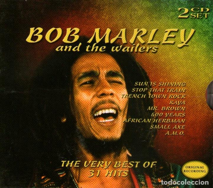 DOBLE CD ALBUM: BOB MARLEY AND THE WAILERS - STOP THAT TRAIN + TRENCH TOWN ROCK - COSMOPOLITAN 2004 (Música - CD's Reggae)