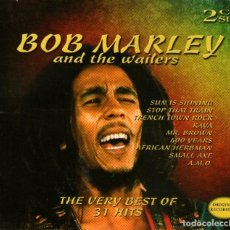 CDs de Música: DOBLE CD ALBUM: BOB MARLEY AND THE WAILERS - STOP THAT TRAIN + TRENCH TOWN ROCK - COSMOPOLITAN 2004. Lote 113436527