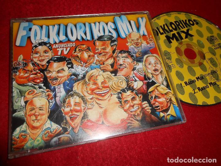 FOLKLORIKOS MIX RADIO MIX (COMPLETO)/(INCOMPLETO) CD SINGLE 1996 PROMO (Música - CD's Disco y Dance)
