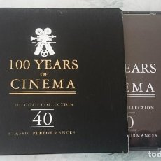 CDs de Música: 100 YEARS OF CINEMA. THE GOLD COLLECTION. 40 CLASSIC PERFORMANCES (PROPER BIEM 1997). Lote 113543163