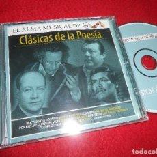 CDs de Música: CLASICAS DE LA POESIA CD 2004 EDICION MEXICO RECOPILATORIO MANUEL BERNAL+BENITO HERNANDEZ+ETC. Lote 113568271