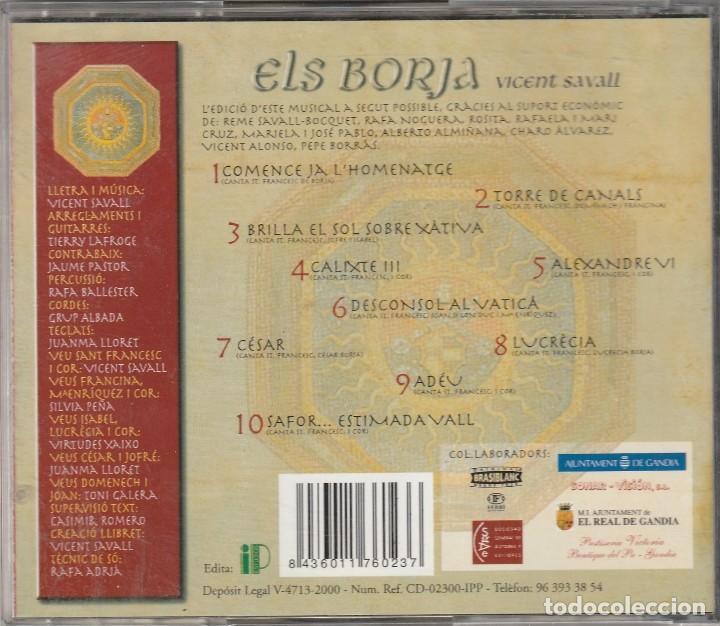 CDs de Música: ELS BORJA - ANY 2000 (CD IP 2000) MUSICAL DE VICENT SAVALL - Foto 2 - 113710931