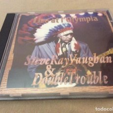 CDs de Música: STEVIE RAY VAUGHAN & DOUBLE TROUBLE – LIVE AT L'OLYMPIA. STEVE. 1993. UNOFFICIAL.. Lote 113753599