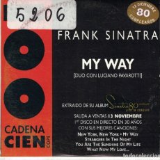 CDs de Música: FRANK SINATRA WITH LUCIANO PAVAROTTI - MY WAY / THE CHRISTMAS SONG WITH NAT KIN COLE. Lote 113807263