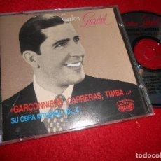 CD di Musica: CARLOS GARDEL GARÇONNIERE,CARRERAS, TIMBA...SU OBRA INTEGRAL VOL.8 CD 1990 EDICION EU. Lote 113838007