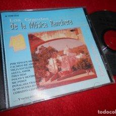 CDs de Musique: LOS DOS REALES LOS GRANDES DE LA MUSICA RANCHERA CD 1992 EDICION MEXICO. Lote 113838495
