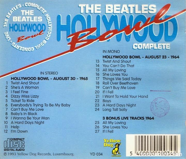 CDs de Música: THE BEATLES HOLLYWOOD BOWL COMPLETE 1965 STEREO & 1964 MONO - Foto 2 - 114072303