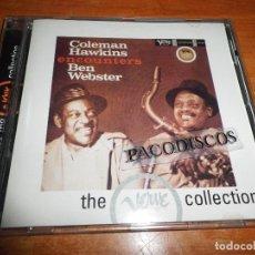 CDs de Música: COLEMAN HAWKINS & BEN WEBSTER COLEMAN HAWKINS ENCOUNTERS BEN WEBSTER CD ALBUM VERVE COLLECTION SPAIN. Lote 114101291