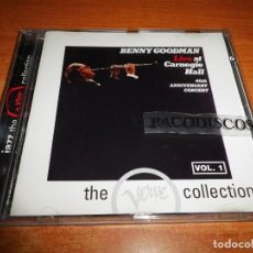 CDs de Música: BENNY GOODMAN LIVE AT CARNEGIE HALL VOL 1 CD ALBUM VERVE COLLECTION SPAIN JAZZ MUY RARO. Lote 114103703