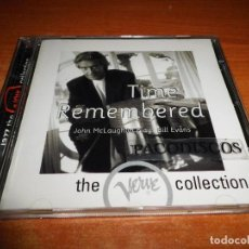 CDs de Música: JOHN MCLAUGHLIN TIME REMEMBERED JOHN MCLAUGHLIN PLAYS BILL EVANS CD ALBUM VERVE COLLECTION SPAIN. Lote 159662925