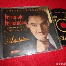CDs de Música: FERNANDO FERNANDEZ GRANDES EXITOS VOL.2 ARRABALERA CD 1995 EDICION ESPAÑOLA SPAIN. Lote 114253655