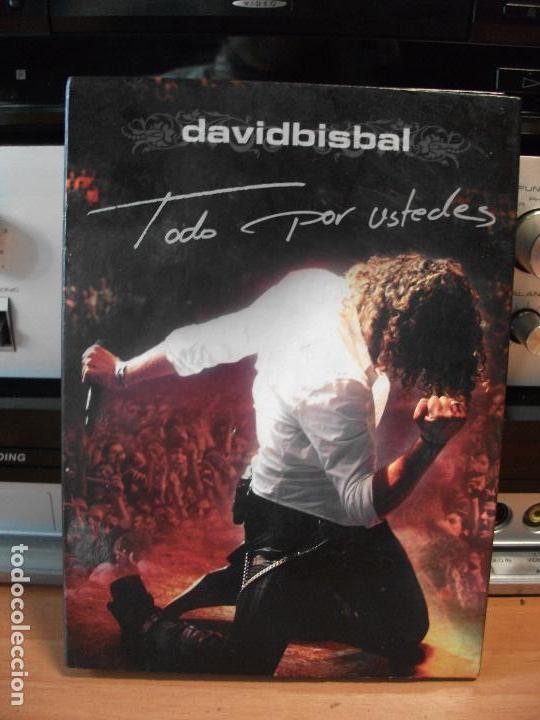 DAVID BISBAL TODO POR USTEDES 2 DVD + 1 CD CONCIERTO DOCUMENTAL ACUSTICO MAKING OF 2005 PEPETO (Música - CD's Pop)