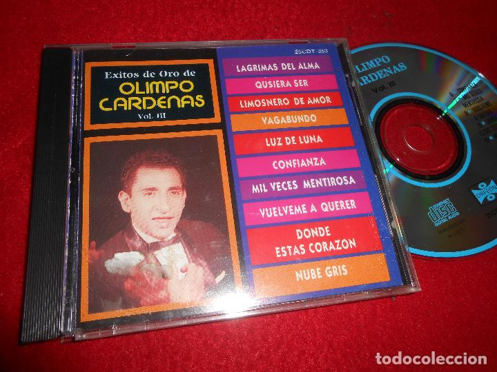 OLIMPO CARDENAS VOL.III CD EDICION AMERICANA USA (Música - CD's Latina)