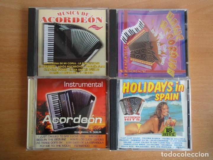 LOTE 4 CDS MUSICA DE ACORDEON. VARIADA (Música - CD's Otros Estilos)