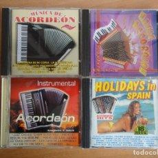 CDs de Música: LOTE 4 CDS MUSICA DE ACORDEON. VARIADA. Lote 114727991