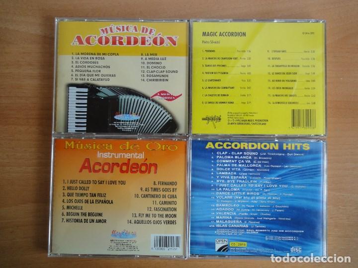 CDs de Música: Lote 4 CDs musica de acordeon. Variada - Foto 2 - 114727991