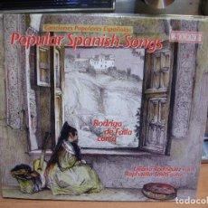 CDs de Música: POPULAR SPANISH SONGS RODRIGO DE FALLA LORCA LILIANA RODRIGUEZ RAPHAELLA SMITS CD ALBUM PEPETO. Lote 114832619