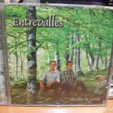CDs de Música: ENTREVALLES VESTIDA DE VERDE CD ALBUM ASTURIAS . Lote 114838303
